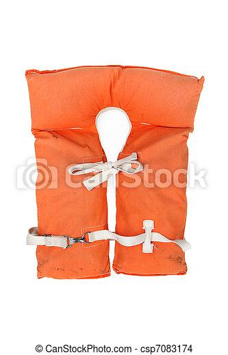 Old vintage life jacket - csp7083174