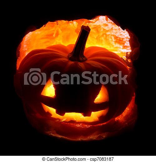 Jack-o'-lantern - csp7083187