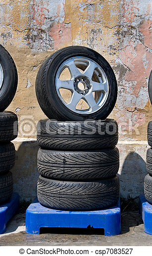 automobile wheels - csp7083527