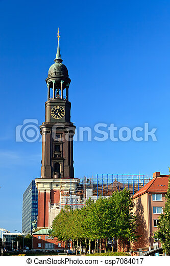 Michel church in Hamburg, Germany - csp7084017