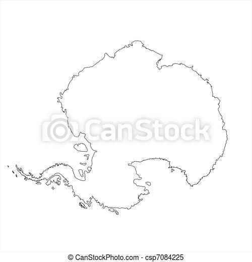 Blank Antarctica Map - csp7084225