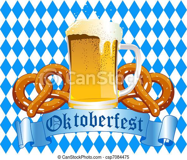 Oktoberfest Celebration Background - csp7084475