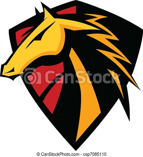 Mustang Stallion Graphic Mascot Ima - csp7085110