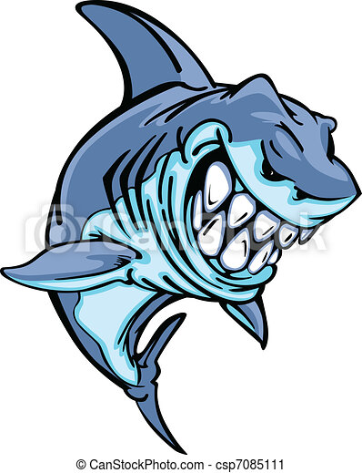 Shark Mascot Cartoon Image - csp7085111
