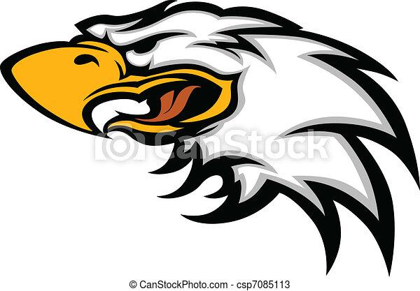 Eagle Mascot Head Graphic - csp7085113
