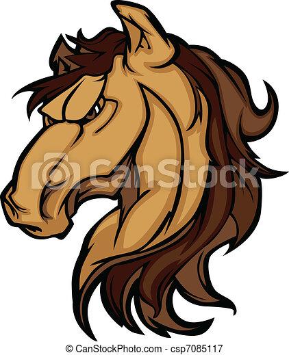 Mustang Stallion Graphic Mascot  - csp7085117