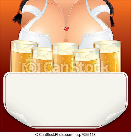 Oktoberfest Girl - csp7085443