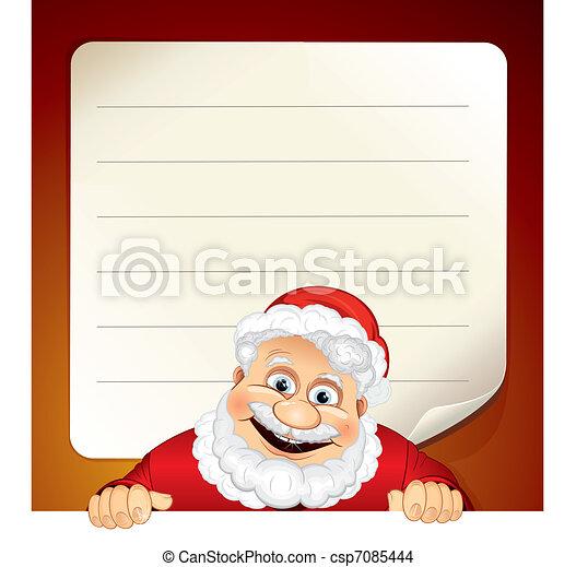 Santa List Emty | New Calendar Template Site