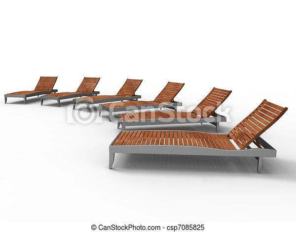leisure on deckchair - csp7085825