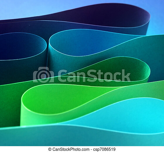 Cool color arc wave form - csp7086519