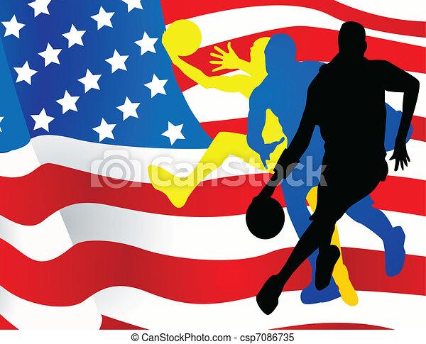 Basketball players - csp7086735