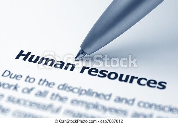 Human resources - csp7087012