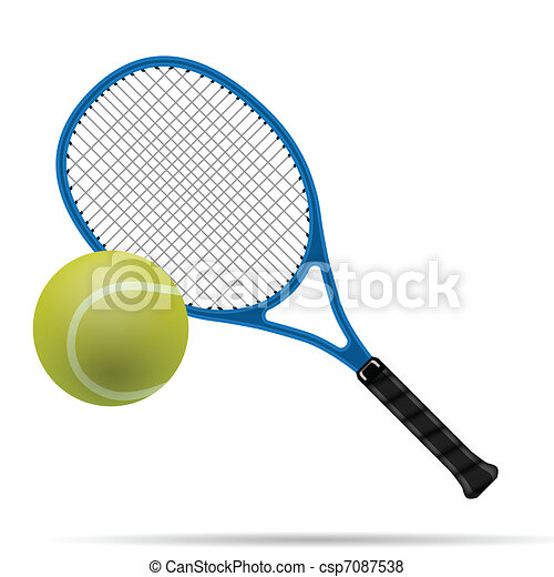 Racket and tennis ball - csp7087538
