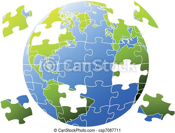 puzzle world, vector - csp7087711