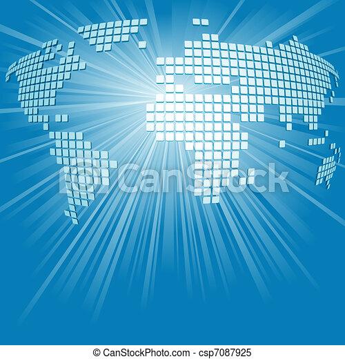 World Map Background - csp7087925