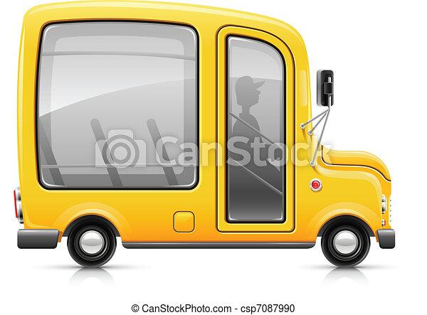 yellow bus - csp7087990