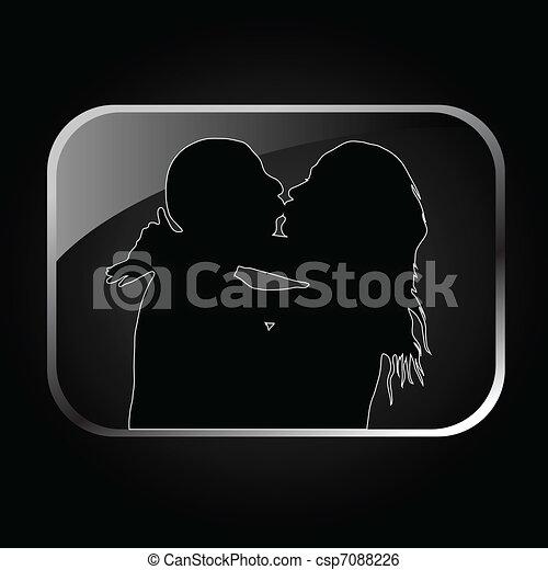 kiss icon illustration - csp7088226