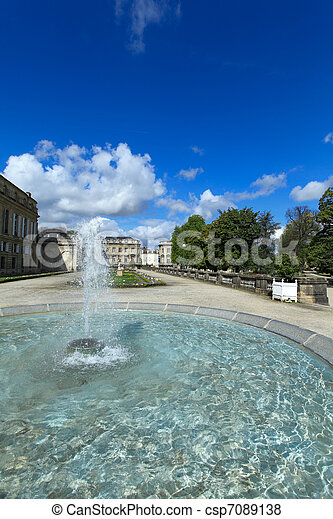 Jardin botanique, public botanic garden, Bordeaux, France - csp7089138