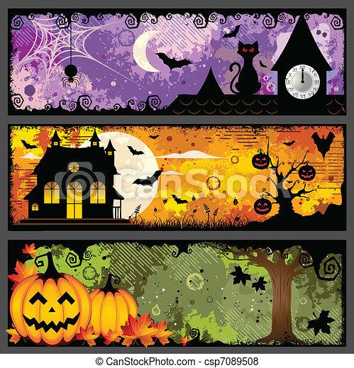 Halloween Banners - csp7089508