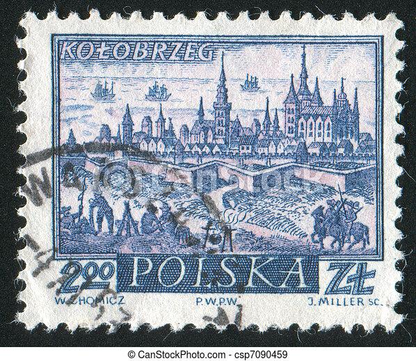 Historyczny, miasto, Kolobrzeg - csp7090459