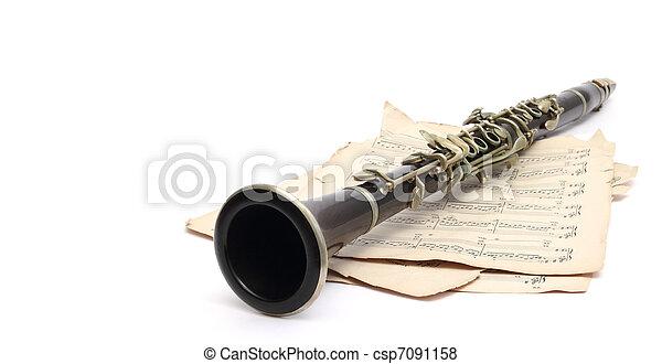 clarinet and music - csp7091158