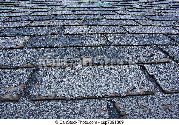 Hail Damaged Roof - csp7091809