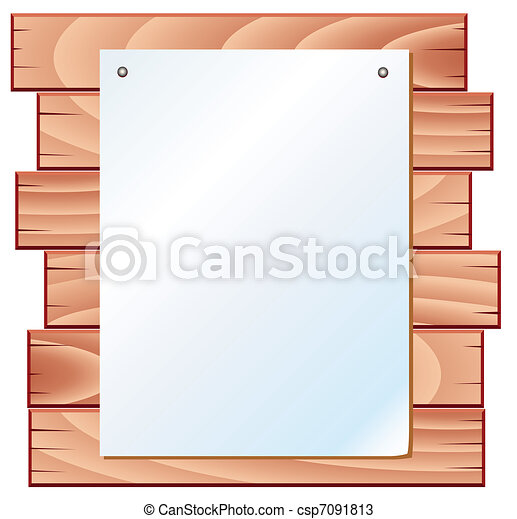 paper on wooden planks - csp7091813