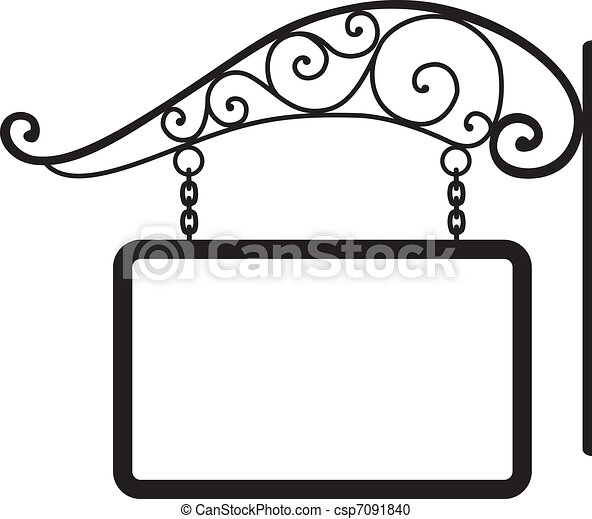signboard and retro metal decoration - csp7091840