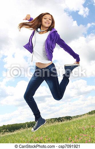 Energetic teenager - csp7091921