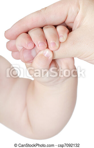 The hand of the baby in a mum's hand - csp7092132