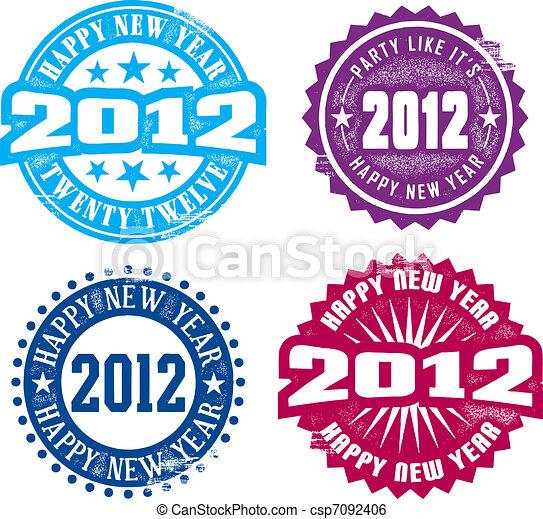 Happy New Year 2012 - csp7092406