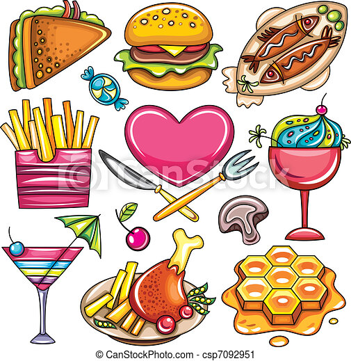 Set of ready-to-eat food icons  2 - csp7092951