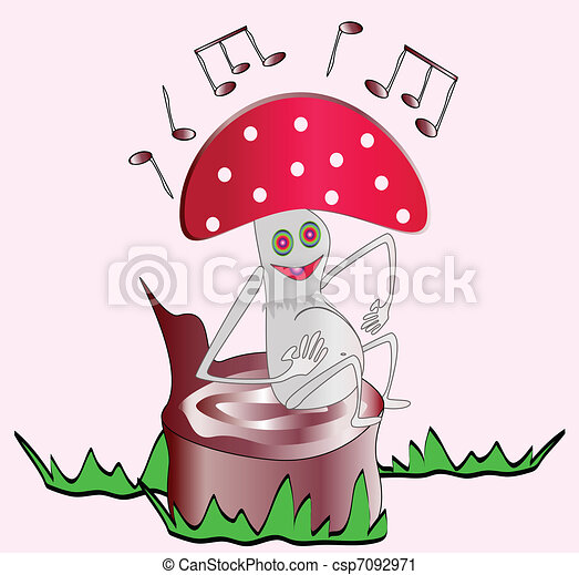 Fly Agaric Drawing Vector Fly-agaric Sings