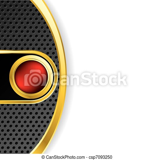 Abstract backdrop with red button - csp7093250