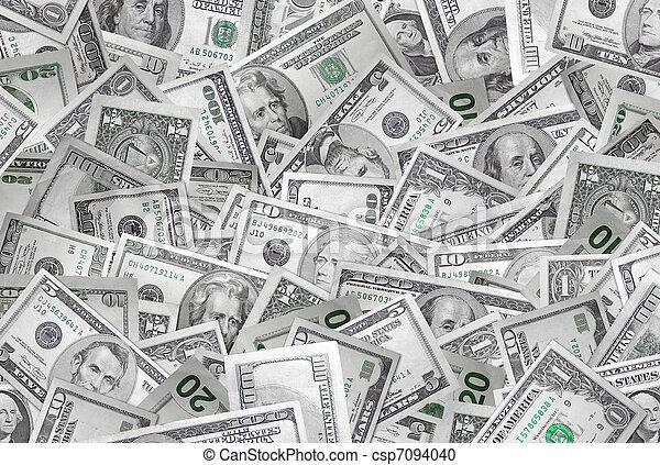pengar, bakgrund - csp7094040