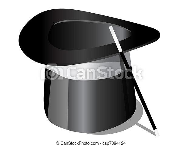 Magic hat and magic wand  - csp7094124