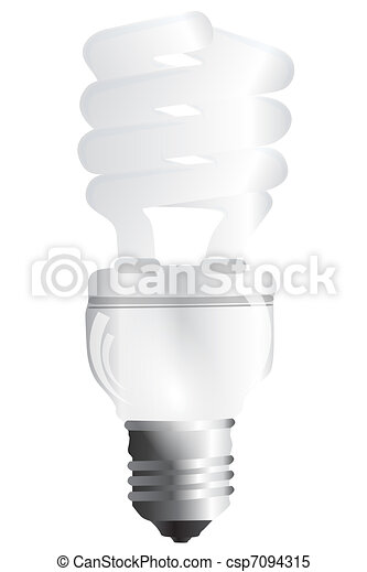 Energy saving bulb - csp7094315