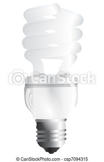 Energy saving bulb  - csp7094315
