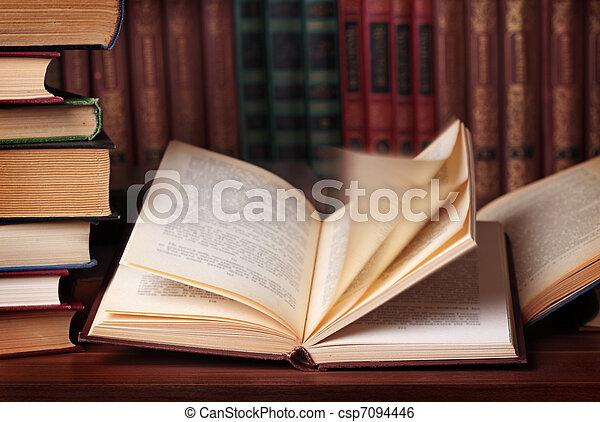 Pile of books - csp7094446