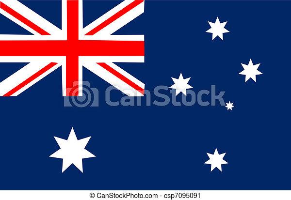 Australia flag  - csp7095091