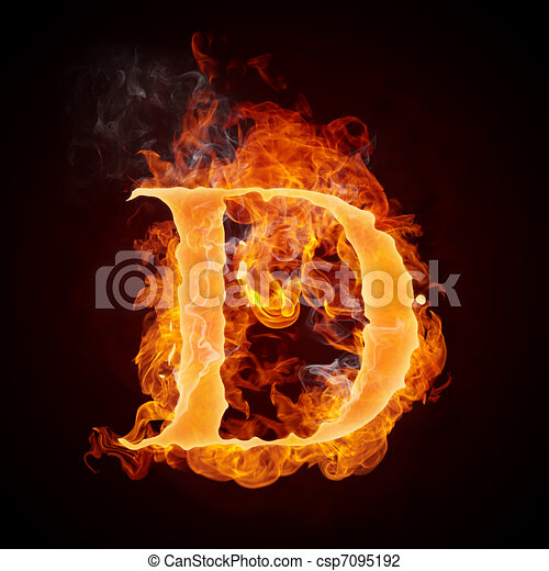 clip art of fire letters az fire letter d isolated on