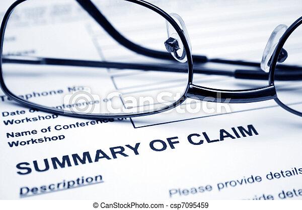 Summary of claim  - csp7095459