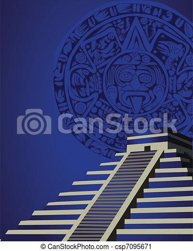 Mayan Pyramid  - csp7095671