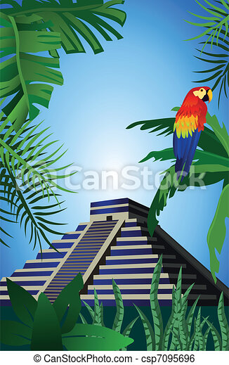 Mayan Pyramid - csp7095696