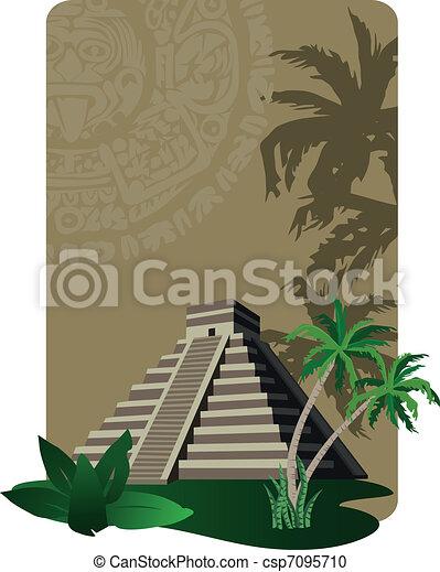 Mayan Pyramid  - csp7095710