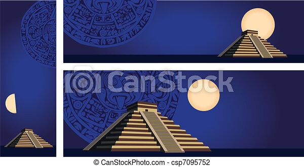 Mayan Pyramid  - csp7095752