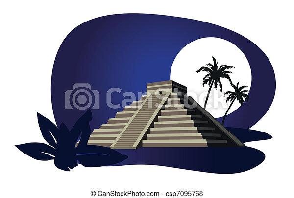 Mayan Pyramid  - csp7095768