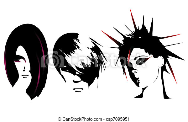 Vector women hairstyle stock illustration royalty free Hairstyle