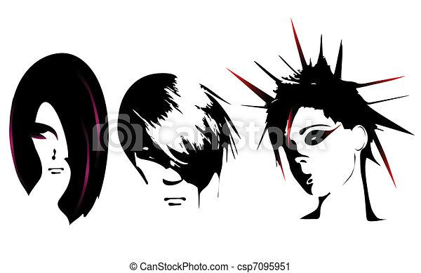 Women hairstyle  - csp7095951
