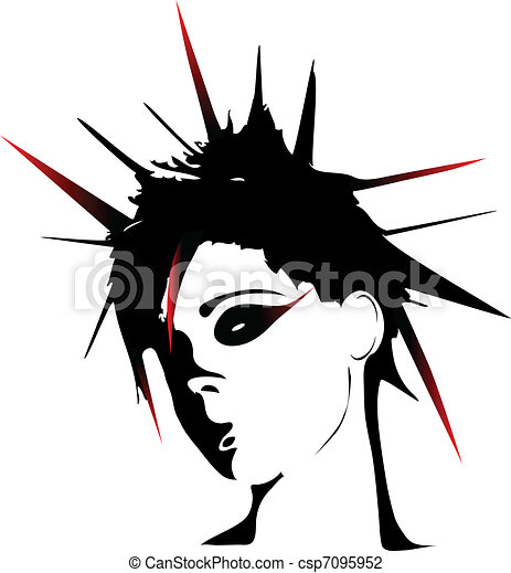 Woman punk hairstyles  - csp7095952